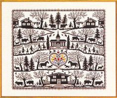 abcstitch.com: Eva Rosenstand Country Farm Sampler/Silhouette Collage counted cross stitch kit (Product No: 4031 / Supplier Code: ER7712535)  $99.00