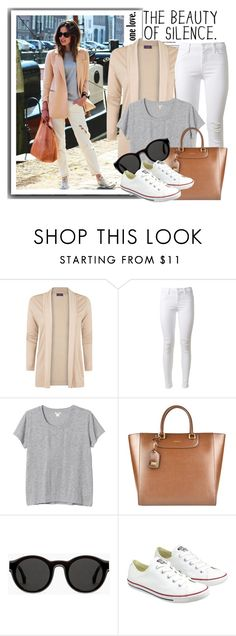 """Pale Pink Trend"" by fashionwholesalecity ❤ liked on Polyvore featuring MANGO, J Brand, Monki, Dolce&Gabbana, Mykita and Converse"