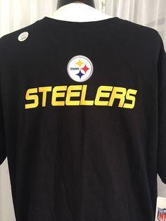 Pittsburgh Steelers NFL Black 100 Cotton T Shirt Men's Size Large New | eBay