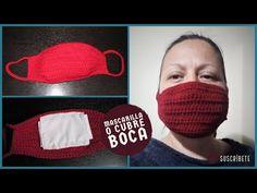 😷Mascarilla o Cubre Bocas (Tejida a crochet)😬👻💀☠ - YouTube Crochet Mask, Crochet Pouch, Crochet Faces, Easy Crochet, Knit Crochet, Tapas, Clothing Hacks, Crochet Projects, Patches