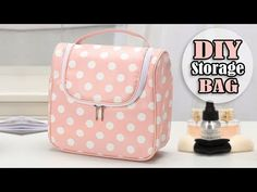 34 Ideas For Sewing Storage Bags Diy Makeup Bag Tutorials, Diy Makeup Bag, Sewing Tutorials, Sewing Projects, Diy Crafts Tv, Diy Pouch No Zipper, Diy Bralette, Patchwork Quilt, Boite A Lunch
