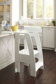 One Step Ahead Kids Kitchen Helper Safety Tower Step Stool WHITE                                                                                                                                                                                 More