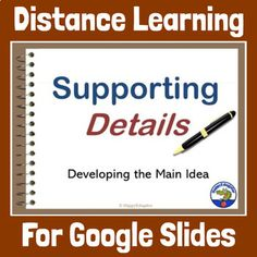 Distance Learning Main Idea, Supporting Details & Transition Words Google Slides Paragraph Writing, Opinion Writing, Persuasive Writing, Writing Rubrics, 4th Grade Writing, Pre Writing, Love Teacher, Teacher Blogs, List Of Transition Words