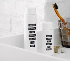 Mama Skin in-room bathroom products packaging by GBH for Mama Shelter, United Kingdom