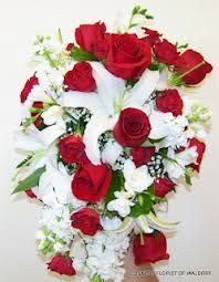 red roses and white lillies bouquets for weddings - Google Search