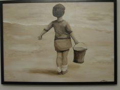 """Doreen - 1919"" 50 x 70 cm Acrylic on canvas SOLD"