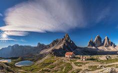Lataa kuva Monte Paterno, vuoret, kesällä, Kolme Huiput Lavaredo, Dolomiittien, Italia