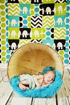 Teal Faux Fur Nest Blanket Newborn Baby Boy or Girl Photography Photo Prop. $18.00, via Etsy.