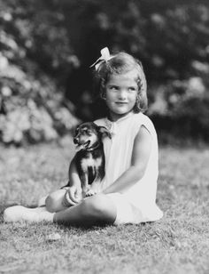 Jacqueline Bouvier Kennedy at age four.