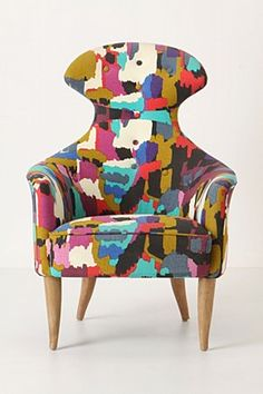 Awesome chair- pattern and shape.