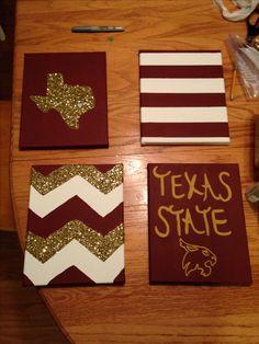 Texas State University DIY canvas