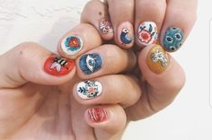 36 Multi Color Circle Tips for Nail Art Design, You can collect images you discovered organize them, add your own ideas to your collections and share with other people. Manicure Y Pedicure, Gel Nails, Nail Polish, Shellac, Acrylic Nails, Trendy Nails, Cute Nails, Nail Art Designs, Split Nails