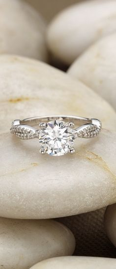 This nature-inspired diamond engagement ring is gorgeous.