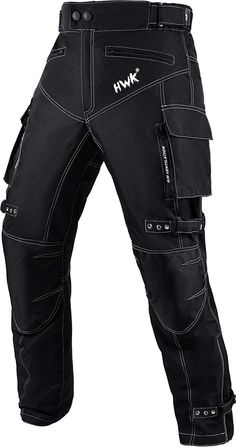 Motorbike Motorcycle Motocross Armour Protective Lining Padded Armoured Reinforced Black Cargo Trouser Jeans With Free Padding