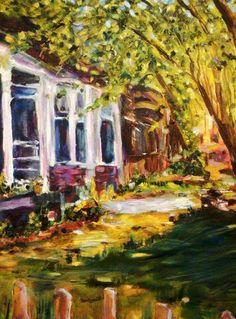 "Impressionist Art by TuckerDemps ""Midtown"" #4 , original, oil on canvas, 18""x24""."