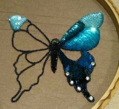 Maybe we ll be butterfly s next lifetime broaches pendents matching stud earrings to come with butterfly soon – Artofit Tambour Beading, Tambour Embroidery, Bead Embroidery Patterns, Bead Embroidery Jewelry, Silk Ribbon Embroidery, Hand Embroidery Designs, Beading Patterns, Beaded Jewelry, Bead Crafts