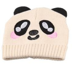 cute panda cartoon warm hat
