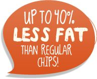 Up to 40% Less Fat than regular chips!