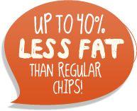 Up to Less Fat than regular chips! Skinny Sticks, Healthy Alternatives, Healthy Treats, Chips, Fat, Potato Chip, Potato Chips