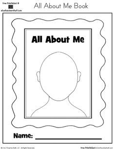 Image Result For My Self Theme Preschool Worksheet All About Me