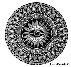 Eye mandala by Luiza Poreda