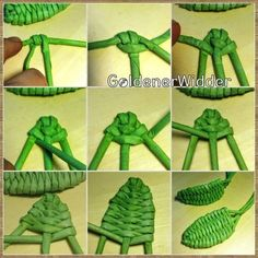 Discover thousands of images about GoldenerWidder Recycled Paper Crafts, Straw Crafts, Leaf Crafts, Wire Crafts, Flower Crafts, Diy And Crafts, Flax Weaving, Straw Weaving, Willow Weaving