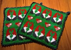 Christmas Feeling, Christmas Diy, Christmas Knitting Patterns, Knitting Charts, Needle And Thread, Knitting Projects, Pot Holders, Knit Crochet, Diy Crafts