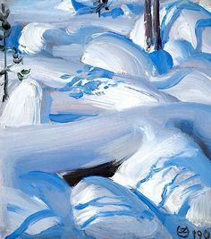 """Snow-covered rocks"" by Akseli Gallen-Kallela, 1900 Mountain Landscape, Winter Landscape, Landscape Art, Landscape Paintings, Oil Paintings, Painting Snow, Time Painting, Winter Trees, Winter Art"