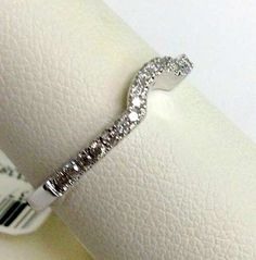 White Gold Solitaire Wrap Ring Enhancer (0.16ct. tw)- RG221404635613