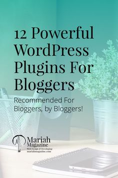 Plugins for WordPress can make your website awesome & your life a little easier. These 12 plugins have been recommended for bloggers, from bloggers.