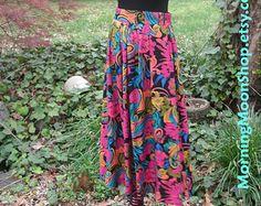 Boho GAUZE SHAWL bellydance VEIL Hippie Chic by MorningMoonVintage