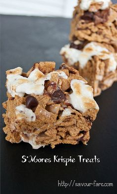These S'Mores Krispie Treats were my contribution to the bake sale. They are easy to make. They are big. They have visible chocolate AND marshmallows. They recall not one but two favorite childhood treats -- S'Mores and Rice Krispie Treats. And they are sweet. They are very sweet. My husband called them diabetic shock in a convenient bar form. In other words -- PERFECT bake sale fodder. And they got snapped up (though not as fast as those little ghost pops, but I don't have the patience to…