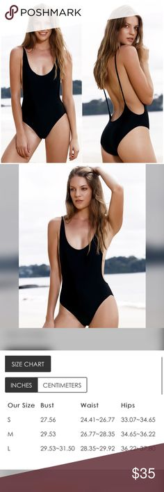 BLACK BACKLESS ONE PIECE SWIMSUIT Very trendy! It's also available in red (check my other listings) AND white (by special request) NEW WITH TAGS | •red •backless •spandex material •unknown boutique brand •this is a presale item Nike Swim One Pieces