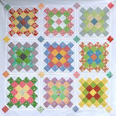 bitty bits & pieces: My Fabric Box & GGA Quilt Finish