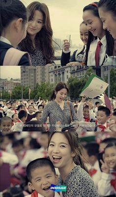 # 송혜교, 광고 모델료 전액 기부 오랜만에 팬들의 앞에 모습을 드러낸 송혜교씨의 훈훈한 소식이 전해졌는데요. 이번 캠페인에서 송혜교씨는 모델료 전액을 두산 희망소학교 건립에 기부했다고 하는데요.