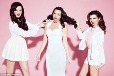 Kim, Khloe and Kourtney pose in angelic white for latest Kardashian Kollection promo