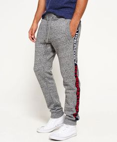 Superdry Tracksuit bottoms - flint grey grit for with free delivery at Zalando Cuffed Joggers, Mens Sweatpants, Grey Joggers, Jogger Pants, 2017 Fall Fashion Trends, Tracksuit Bottoms, Zara Man, Junior, Sport Pants