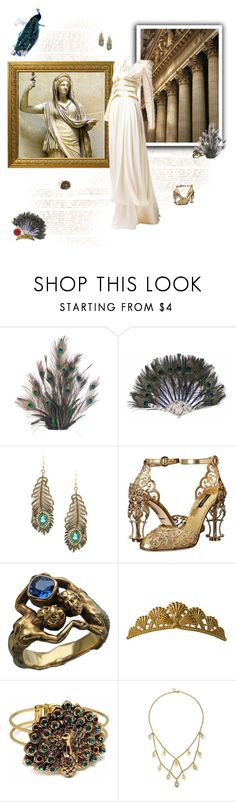 """""""The Goddess Hera"""" by greerflower ❤ liked on Polyvore featuring Hera, Eye Candy, Dolce&Gabbana, TIARA and Wendy Mink"""