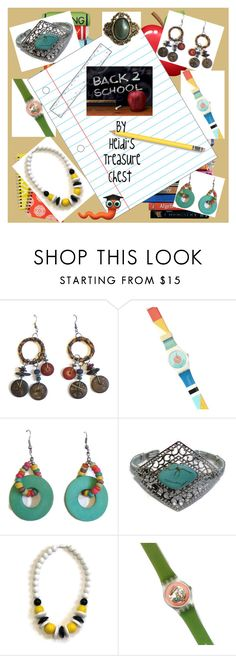 """""""Back To School"""" by heidi-calamia-galati ❤ liked on Polyvore featuring 7 For All Mankind, vintage, PhotoChallenge, swatchwatch, bohojewelry, teamlove and 1980sjewelry"""