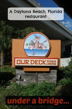 This Daytona Beach restaurant is highly coveted by locals. In fact, it's nearly hidden under a bridge...  #DaytonaBeach #PortOrange #seafoodrestaurant #hushpuppies #Florida   Our-Deck-Down-Under-Daytona-Beach-Restaurant