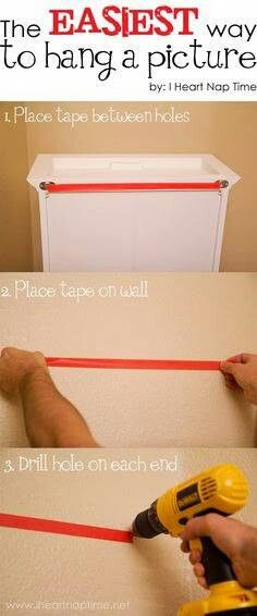 Quick way to hang pictures