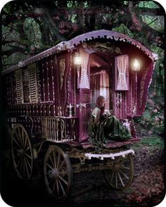 My Mom always told me that i was given to her by the Gypsies, I bet it was in a pink wagon like this!!!