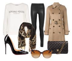 """""""Camila Coelho Winter Look"""" by l-m-v-d-a ❤ liked on Polyvore featuring Wildfox, Joseph, Burberry, Christian Louboutin, Chanel and Dolce&Gabbana"""