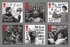 50 Year Anniversary stamps for the Royal Shakespeare Company by Hat-trick