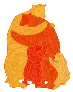 Bear Hug orange by zukzuk on Etsy
