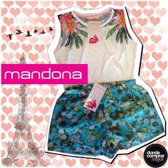 ¡Un conjuntito divino de Mandona Tienda para los días de calor! www.dondecomprarmejor.com