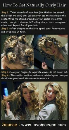 no heat waves/curls, totally doing this when my hair gets longer!