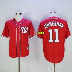 22dcf254190 Ryan  Zimmerman  11  Baseball  Jersey  Red  Washington  Nationals  Size   M-3XL  Hot  New