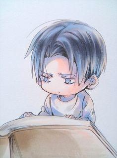 "Shingeki no Kyojin {Attack on Titan} Chibi - Rivaille ""Levi"" Ackerman Armin, Levi X Eren, Mikasa, Manga Anime, Anime Chibi, Anime Boys, Chibi Boy, Levi Ackerman, Bebe Anime"