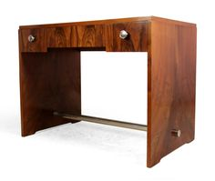 Art Deco French Walnut Desk 1930s